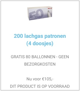 200 lachgaspatronen