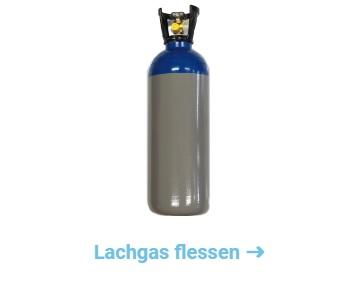 lachgas fles en tank